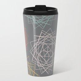 Dark Pastel Origami Blooms Travel Mug