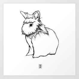 Boss Rabbit Art Print