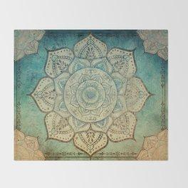 Faded Bohemian Mandala Throw Blanket