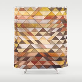 Triangle Pattern Fall Colors Shower Curtain