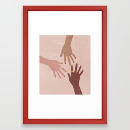 Love Is A Superpower Framed Art Print