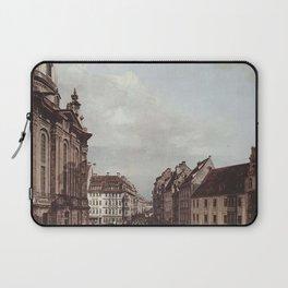 Bernardo Bellotto - Dresden, the Frauenkirche and the Rampische Gasse Laptop Sleeve