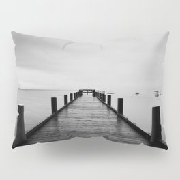 """""""ghost"""" boats on Lake Tahoe after a storm Pillow Sham"""