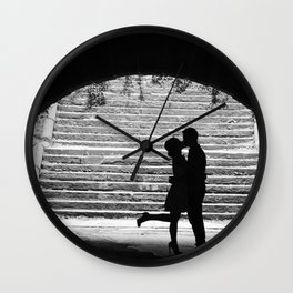 Love Story in Central Park Wall Clock