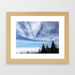 Cloudy Day in Lake Arrowhead Framed Art Print