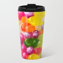 Colorful Sweet Candies Metal Travel Mug
