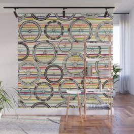 bike wheels stripe Wall Mural