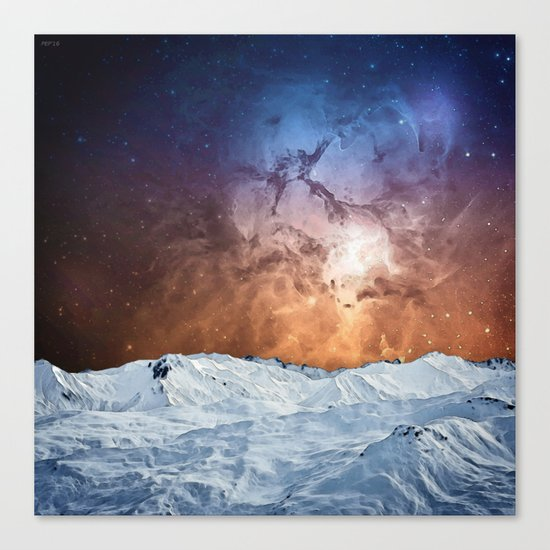 Cosmic Winter Landscape Canvas Print