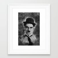 chaplin Framed Art Prints featuring Chaplin by Dino cogito
