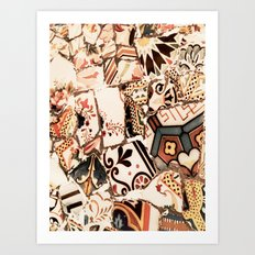 Mosaic field Art Print
