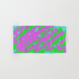 pink green and blue square painting abstract background Hand & Bath Towel
