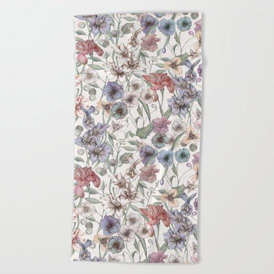 Magical Floral  Beach Towel