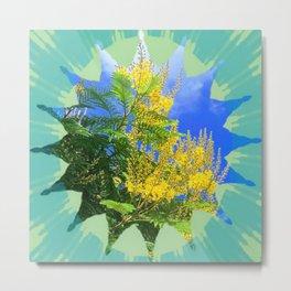 Yellow bloom & blue sky Metal Print