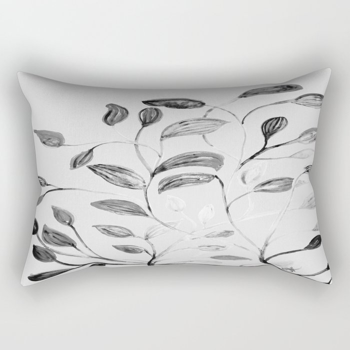 Red and Green Leaves! Romantic Silver Grey! Rectangular Pillow