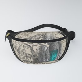 Follow The White Rabbit - Vintage Book Fanny Pack