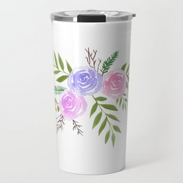 Rose Floral bouquet in watercolor Travel Mug