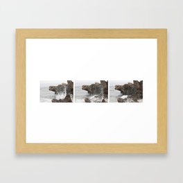 A wave in three parts Framed Art Print