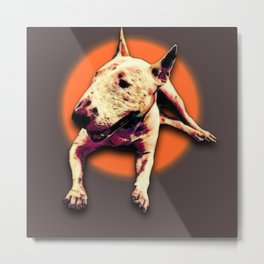 Bull Terrior V.2 Metal Print