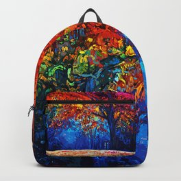 Tardis Tree Art Blossom Backpack