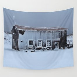 Snow Caked Barn Wall Tapestry