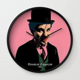 Charlie Chaplin Pop Art Style Picture Wall Clock