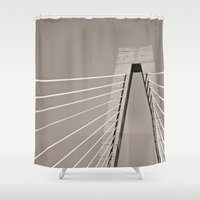 dale cooper Shower Curtains featuring Cooper Crossing by SHeilwagenPaper