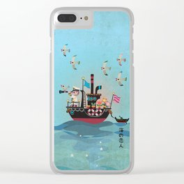 Sea Lover Retro Japanese illustration Clear iPhone Case