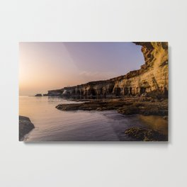 Beautiful Sunset Cyprus Sea Metal Print