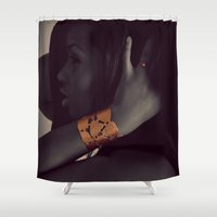 vogue Shower Curtains featuring Vogue by Alex Photography and Designs
