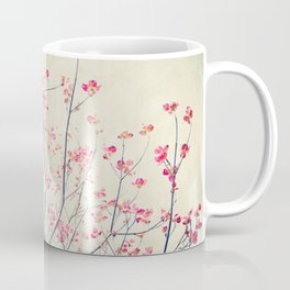 Ruby and Rose Quartz -- Red Pink Dogwood Tree in Flower Coffee Mug