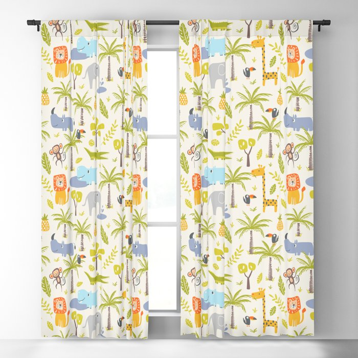 It's A Jungle Out There Blackout Curtain