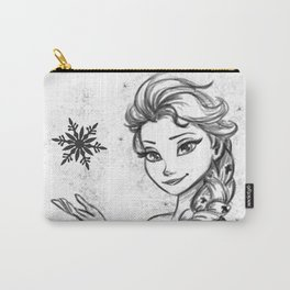 The Snow Queen Black And White Carry-All Pouch
