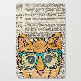 Orange Kitty Cat Cutting Board