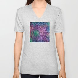 Northern Lights Eclipse Abstract Unisex V-Neck