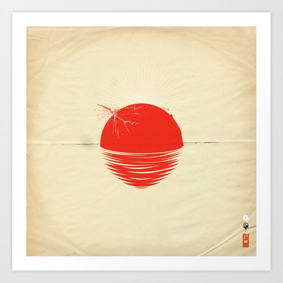 "Japan relief poster/all proceeds will go to ""Peace Winds"" Art Print"