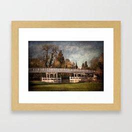 Whitchurch on Thames Toll Bridge Framed Art Print