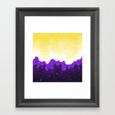 Nonbinary Pride Flag Galaxy Framed Art Print