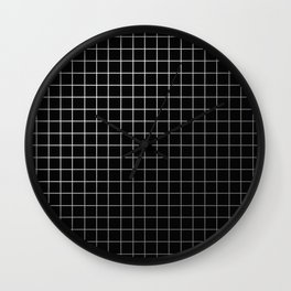 Metal Cage - Industrial, metallic grid pattern Wall Clock