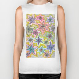 Bubble Flowers Biker Tank