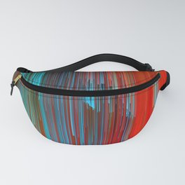 California Dreamin' - Abstract Glitch Pixel Art Fanny Pack