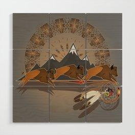 Native American Indian Buffalo Nation Wood Wall Art