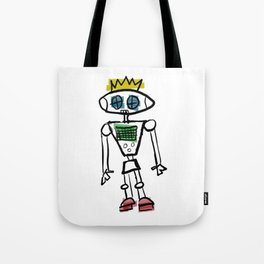 Robot Prince(ss)/Binary is for Code, Not Gender Tote Bag