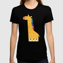 Giraffe Piano T-shirt