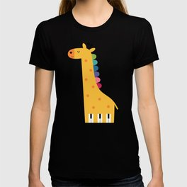 Giraffe Piano T-shirt