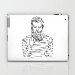 Beard Man with a Pipe Laptop & iPad Skin