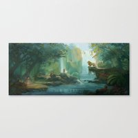 narnia Canvas Prints featuring Wilderness of Narnia by Jasmine Lee