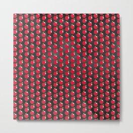 Chalkboard Apple Pattern Metal Print