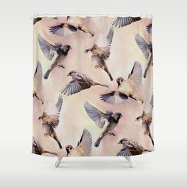 Sparrow Flight Shower Curtain