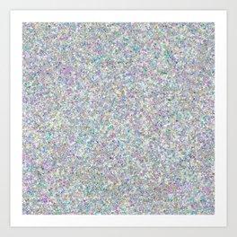 Iridescent Silver Glitz Pattern Art Print