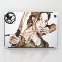 katniss iPad Cases featuring Mockingjay. Katniss Everdeen. by Feeling Artsy